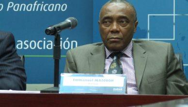 Emmanuel Ikazoboh, le président du conseil d'administration de la banque lors de la 27e AG de la banque à Dar-Es-Salam (Tanzanie)